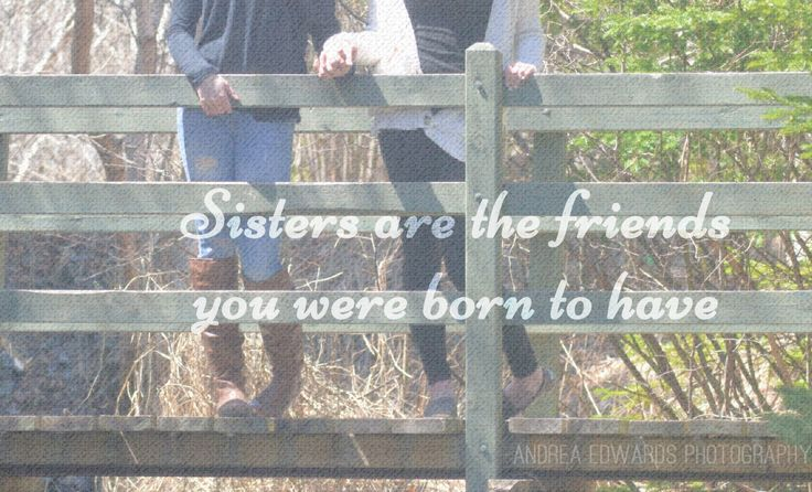 Karley and Tyra were together for a family engagement session when I snapped this photograph, I thought it would be interesting to post it on it's own and add a few simple words. Sisters are the friends you were born to have. @walterfurlong @tyragale  #sisters #photography #quotations #quotes #teens