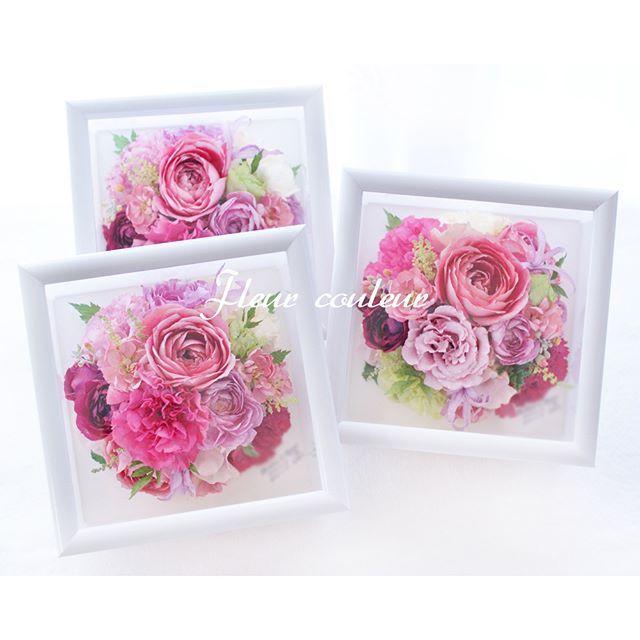 #バラ #トルコキキョウ #カーネーション #チドリソウ #アスチルベ #ダイヤモンドリリー ・・・ピンクの花材をたくさん集めたラウンドブーケを3シェアに保存加工♡ひとつは新郎新婦さまのお手元に、ふたつは両家ご両親さまへ感謝のギフトとして☆挙式後のお申込みもOK! http://www.fleurcouleur-d.com/ ✉sport20@paw.hi-ho.ne.jp お急ぎの方は直接お電話くださいTEL:082-961-3007  #ブーケ保存#アフターブーケ#メモリアルブーケ#結婚式準備#結婚準備#プレ花嫁#2016秋挙式#2016秋婚#2016年秋婚#8月%E