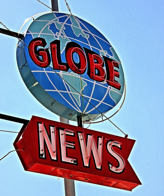 Globe News, Tower and Belknap, Superior, Wisconsin, USA.