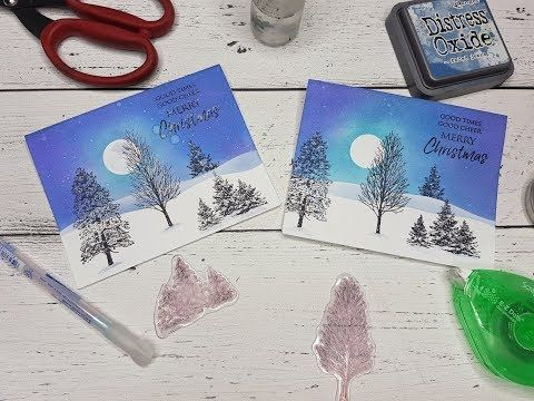 Video: When Everything Goes Wrong: A Christmas Landscape Card – PaperCrafting.net