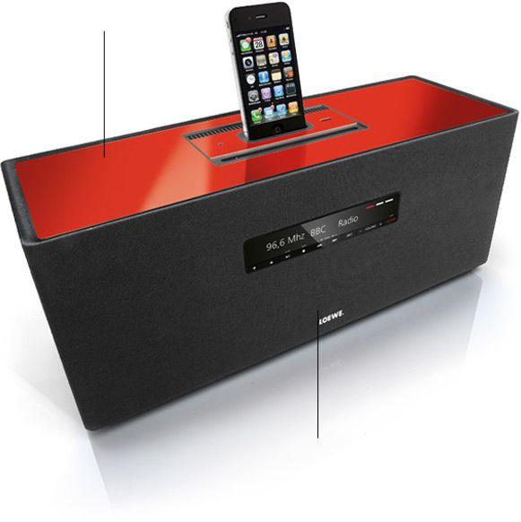 LOEWE SOUNDBOXBK Loewe CD/FM Radio and iPod Dock System