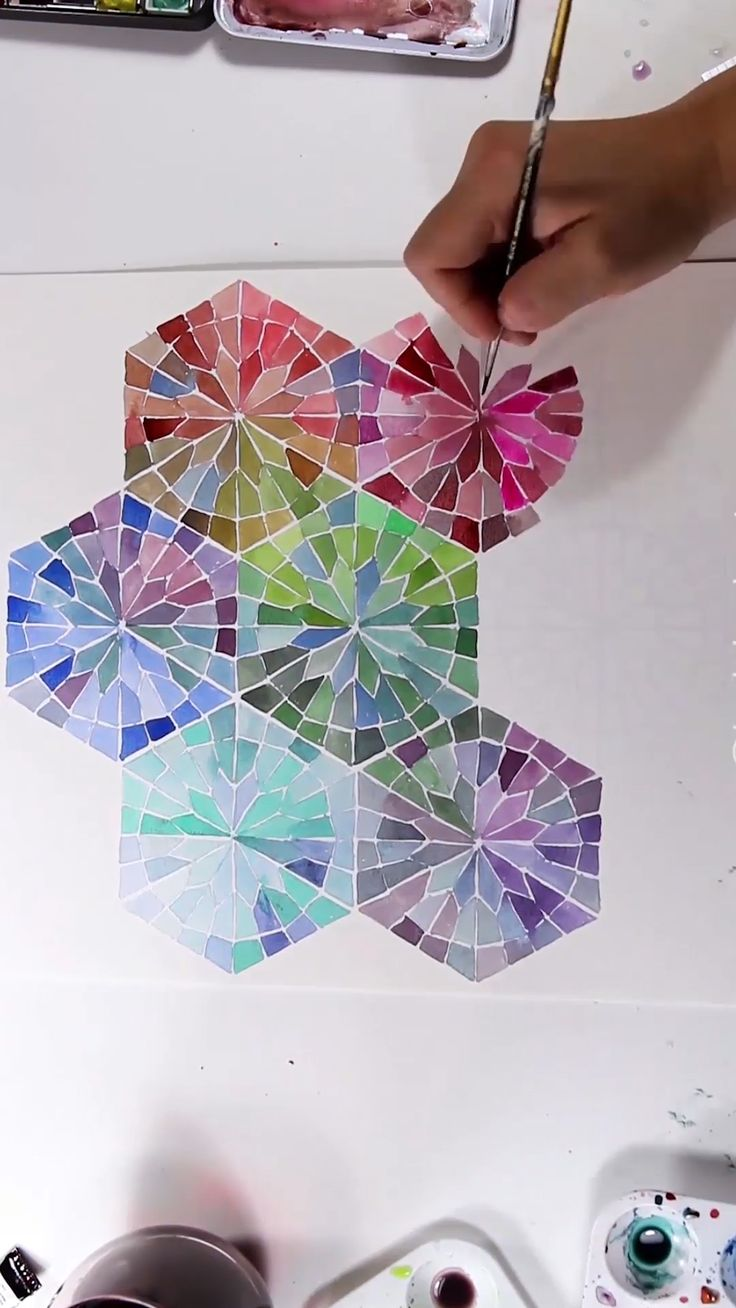 Watercolor Mandala Gradient Pattern
