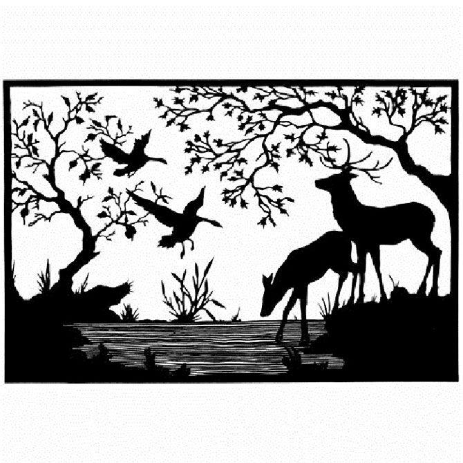 черно-белые силуэты животных картинки страницу