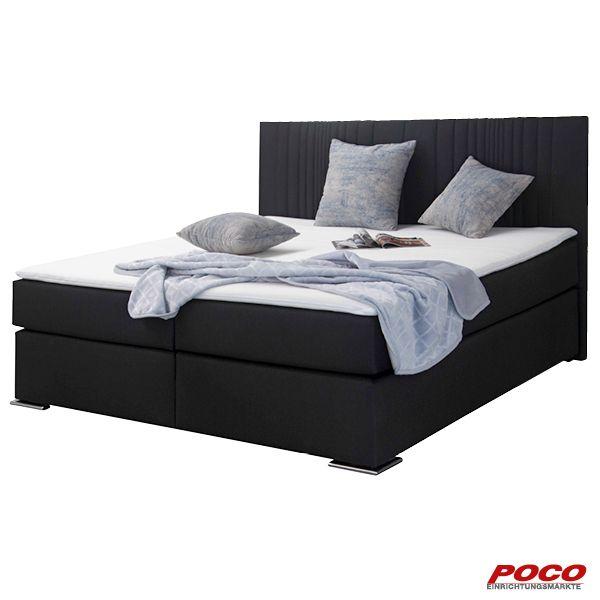 Boxspringbett Tone Schwarz 180 Cm In 2020 Poco Schlafzimmer Schlafzimmer Bett Bett