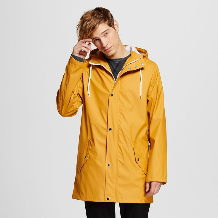 Men's Water Resistant Jacket Yellow Xxl - Mossimo Supply Co., Zesty Gold