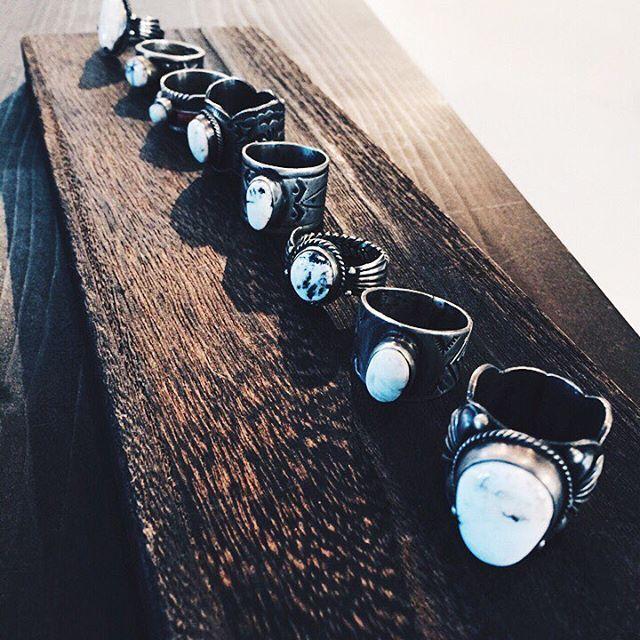 white buffalo 2016 Ring Line Up  #whitebuffalo #indianjewelry #ホワイトバッファロー #インディアンジュエリー #america #navajo #ring #fashion #mensfashion #tidepr #wb http://www.whitebuffalo.jp