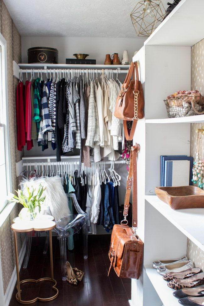 Check out this closet makeover reveal, including a source list by Erin Spain.