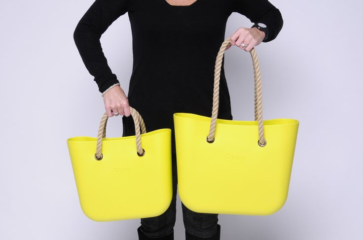 Yellow 50 O Bag Mini OBMB36 + Natural Short Rope Handles OBMHR02