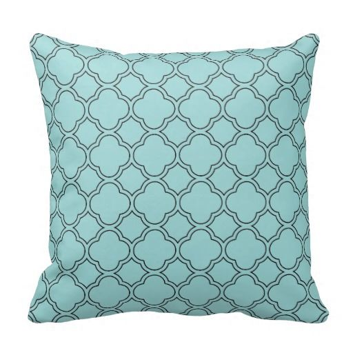 Quatrefoil Decorative Pillow : 1000+ images about Robin s Egg Blue Decor and Accessories on Pinterest Wall mount, Candy jars ...