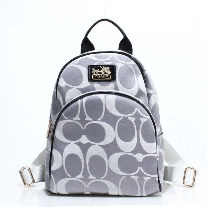 Coach Logo Monogram LZ701 Backpack In Grey
