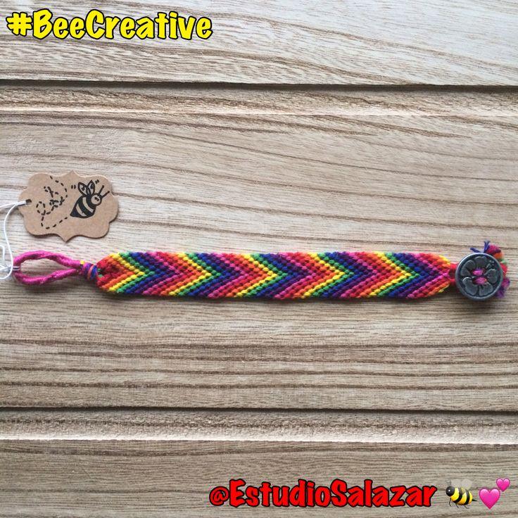 #Arrowhead #rainbow #pattern - $18 (+shipping)  #BeeCreative #Bee #art #craft #artist #creative #bracelet #bookmark #tag #keychain #collar #custom #unique #design #handmade