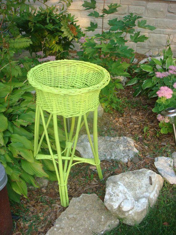 Clara's wicker plant stand