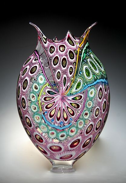 Gold Amethyst Foglio by David Patchen: Art Glass Vessel available at www.artfulhome.com