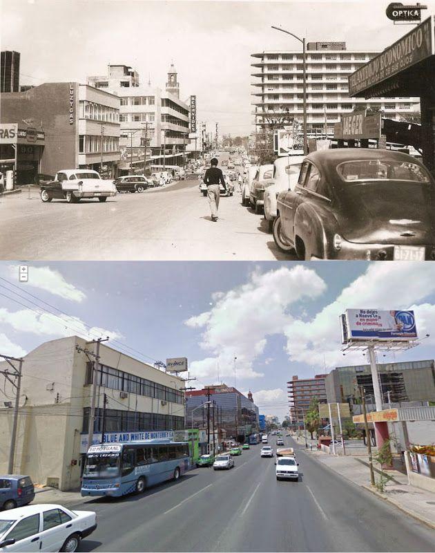 Monterrey, México: Calle Pino Suárez (Ayer y hoy)