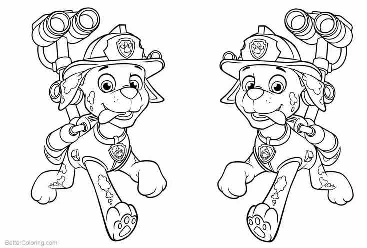 Paw Patrol Marshall Coloring Page Best Of Marshall From ...