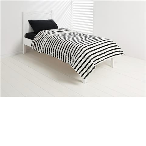 scallop blanket single bed