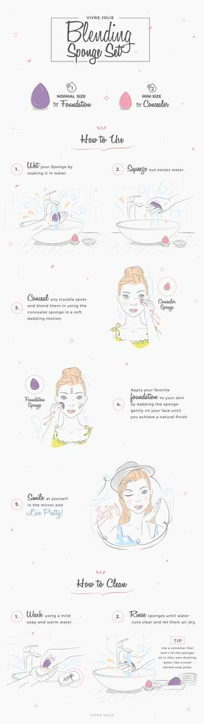 How to Use a Beauty Blending Sponge to Apply your Makeup Flawlessly   #beautyblender