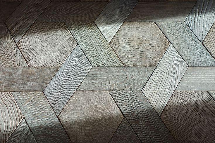 Hexagone Bois : tapis hexagone en bois debout et bois de fil ch?ne massif – n?960