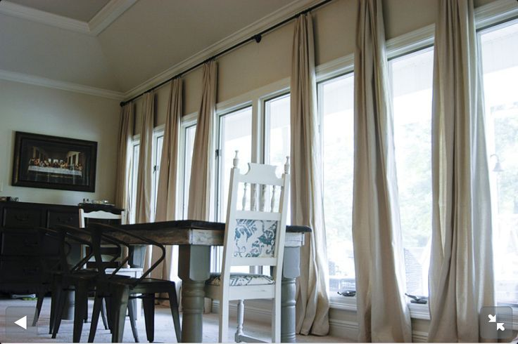When One Needs Extra-Long Curtain Rods | Drapery Room Ideas