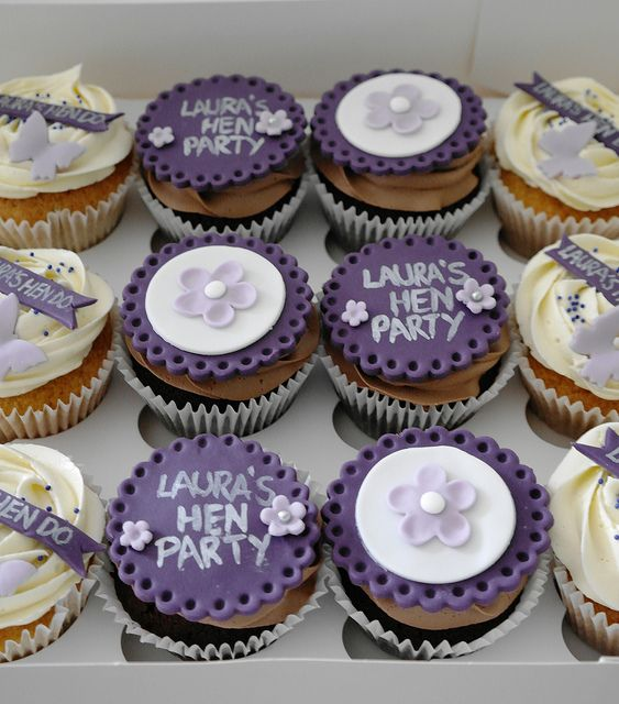 Hen Party Cupcakes by There for the Baking, via Flickr
