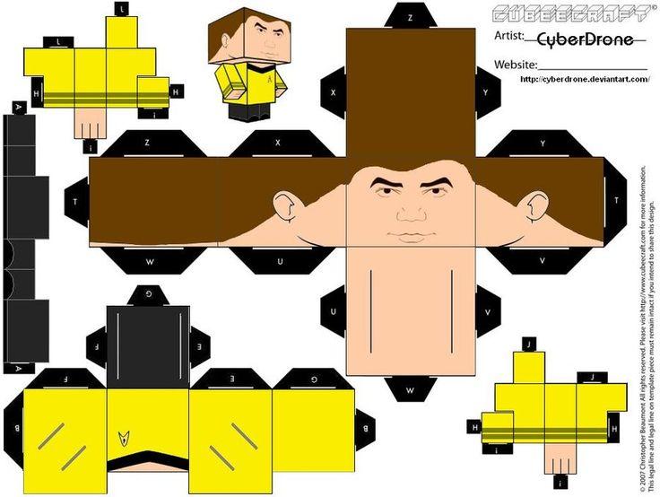 Deviantart Starfleet Captains Tylan Schan: 34 Best Images About Papercraft On Pinterest