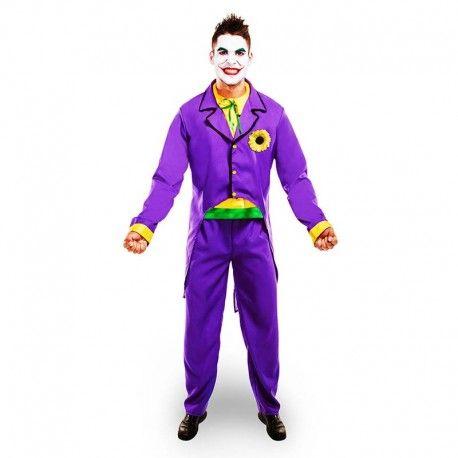 Disfraces Personajes hombre | Disfraz de Joker morado. El malvado de Batman en su máximo esplendor. Contiene pantalón y chaqueta con camisa. Talla M/L. 23,95€ #joker #jokermorado #disfrazjoker #disfraz #superheroe #disfrazpersonaje #disfraces