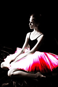 black and pink Ballerina