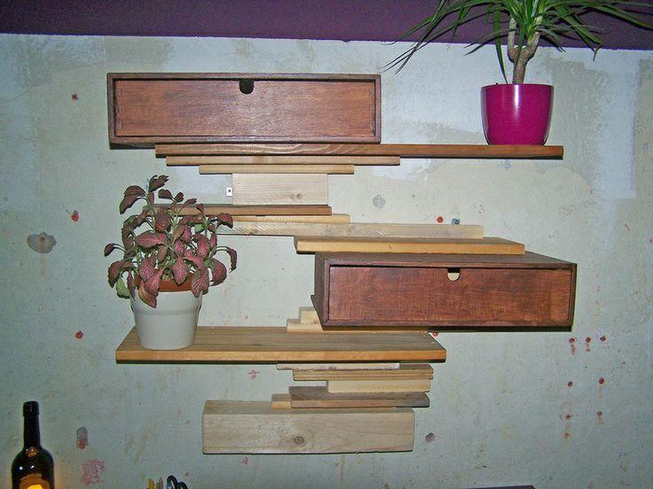 Regal mit 2 Schubladen Upcycling Restholz von pßoppo auf DaWanda.com