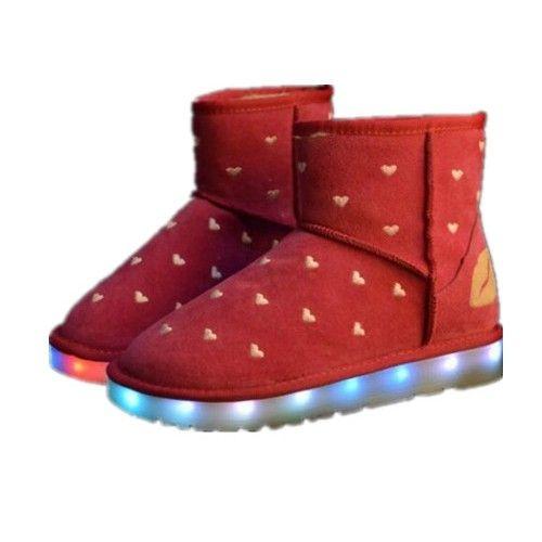 Rot Schnee Schuhe Mit LED