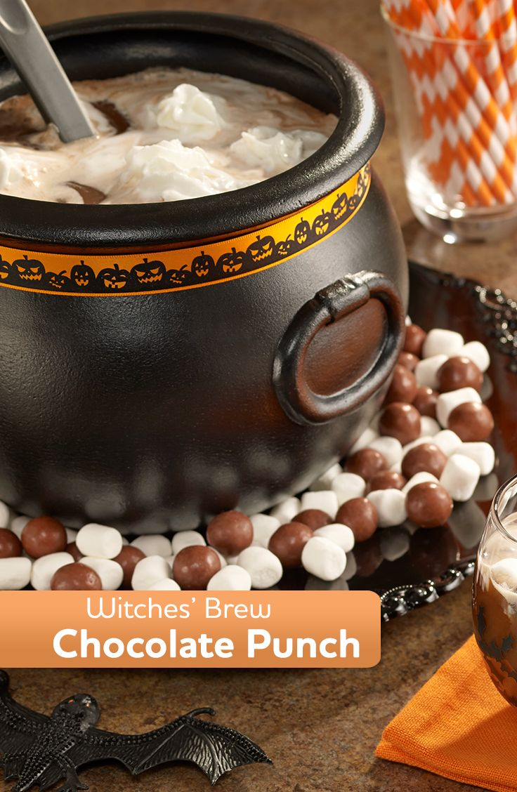 Witches' Brew Chocolate Punch | Recipe | Halloween ...
