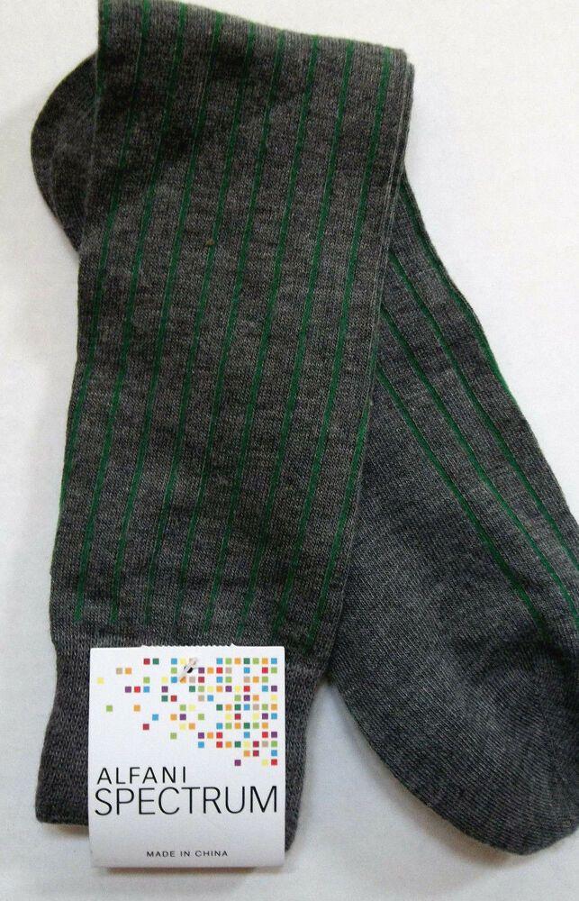 Alfani Mens Knit Printed Dress Socks B//W 10-13