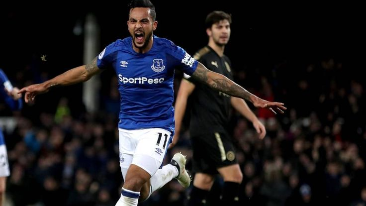 Walcott opens his Everton account. GOAL - Everton 2-0 Leicester Theo Walcott (39 mins)