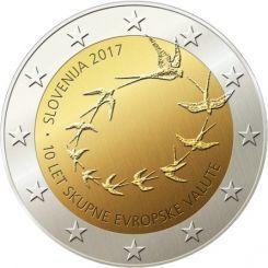 2 Ευρώ, Σλοβενία, 10η επέτειος από την εισαγωγή του ευρώ στη Σλοβενία, 2017