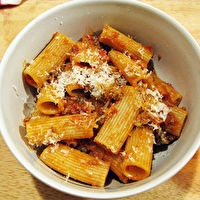Rigatoni Bolognese by The Amateur Gourment Blog