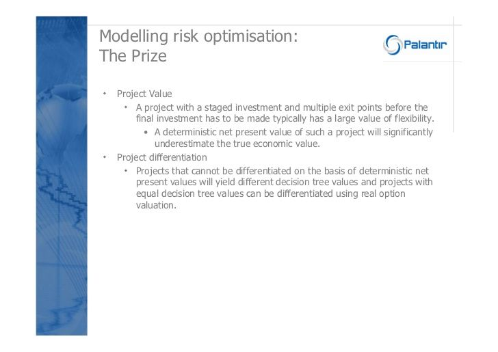 Risk modelling in the Exploration and Production Industry