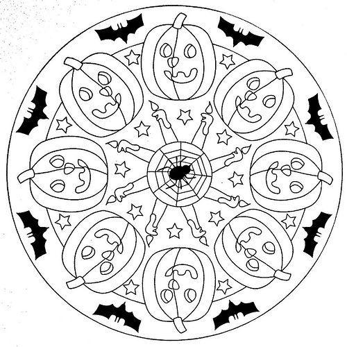 Mandala Malvorlagen Halloween Halloween Ak 1 Ak Halloween Mandalamalvorlagen Mandalas Kinder Mandala Ausmalen Mandala Herbst