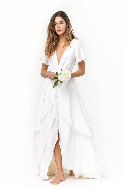 Casual Off White Wedding Dresses