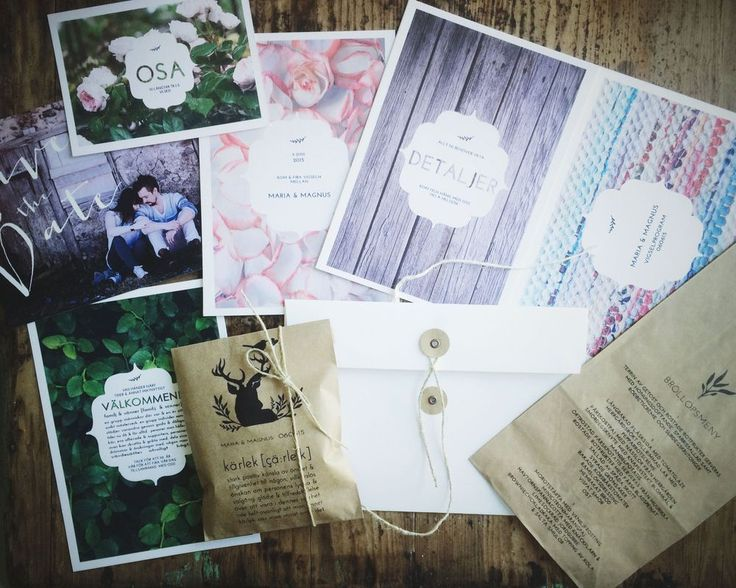 made by mary countryside DIY wedding in Sweden. Rustic wedding. Rustic wedding invitations.