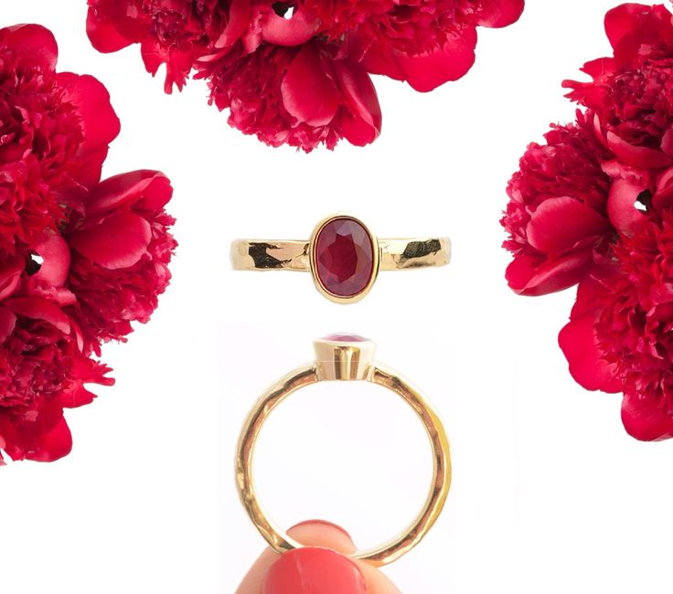 Beautiful gold ring with ruby / piękny pierścionek z 14 karatowego złota z rubinem wykonany dla klientki