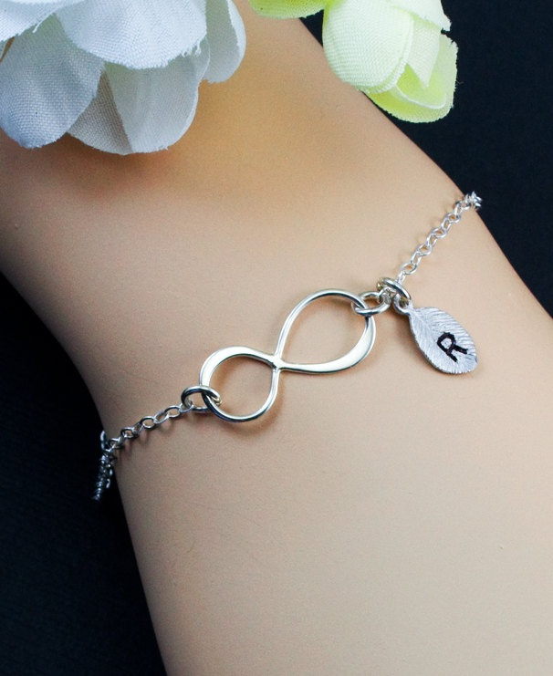 Sterling Silver Infinity jewelry-- i love this with someones initials on it!!