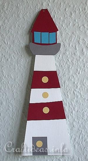 Summer Paper Craft - Paper Lighthouse