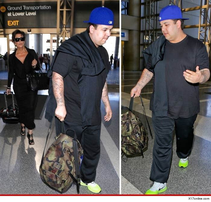 Rob Kardashian weight gain. The internet is MEAN.