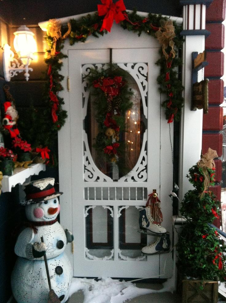 victorian christmas door decorations