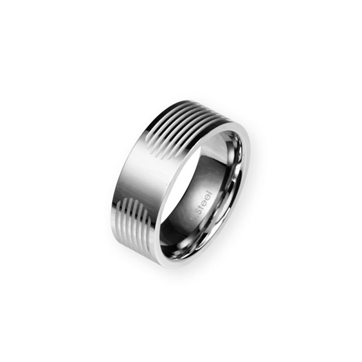 Polished 8mm Steel Band with Etched detailing. http://lily316.com.au/shop/mens-stainless-steel/mens-polished-steel-band-with-etched-detail-2/