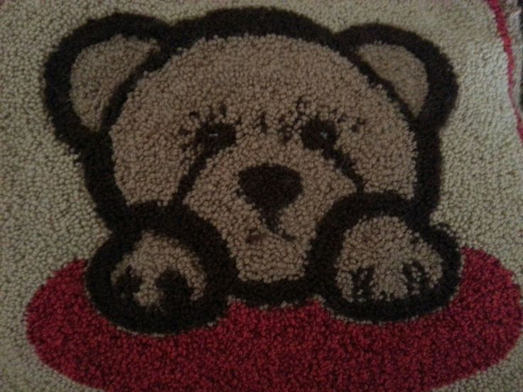 Teddy Bear - Punch Needle Rug Hooking
