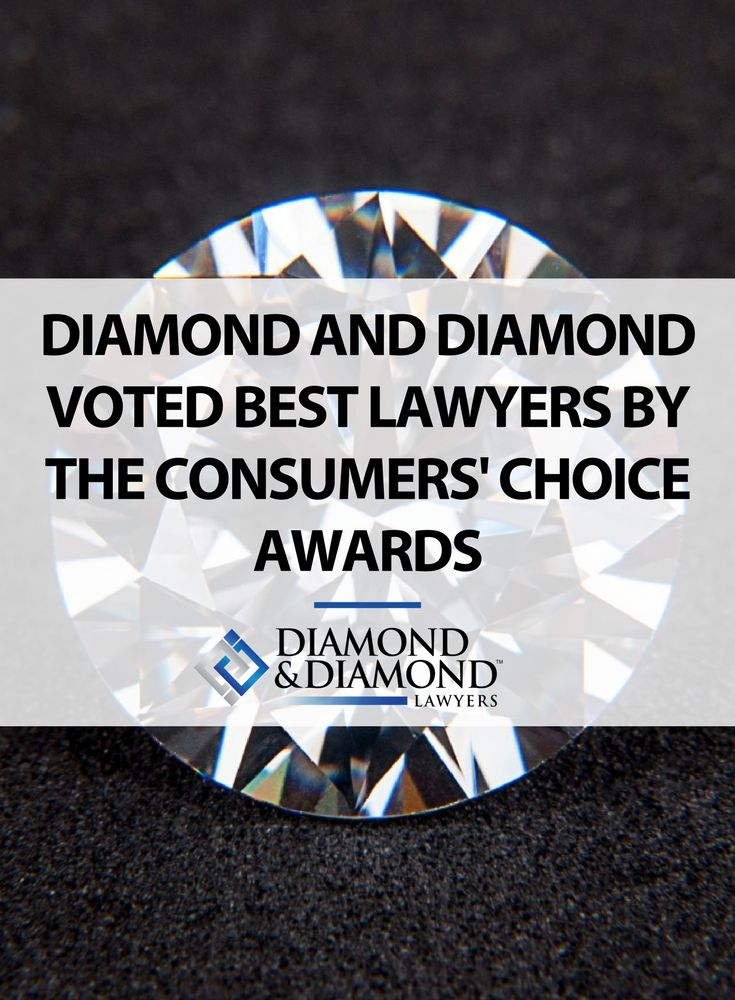 Diamond & Diamond have been honoured with the 2014 Consumers' Choice Award for Best Personal Injury Firm in Toronto. Click through to learn more!
