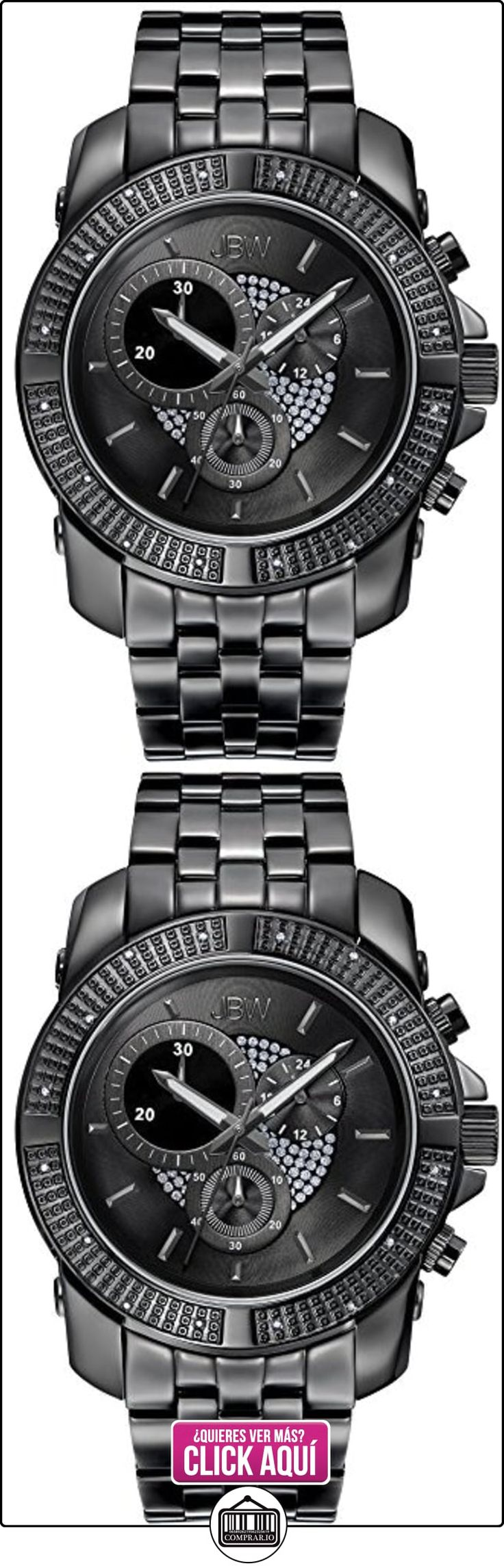JBW Reloj con movimiento japonés Man Warren Negro 48 mm  ✿ Relojes para hombre - (Lujo) ✿ ▬► Ver oferta: http://comprar.io/goto/B01BMOUXC2