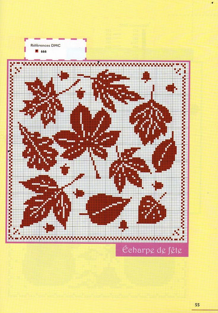 Autumn leaves cross stitch pattern - free cross stitch patterns crochet knitting amigurumi