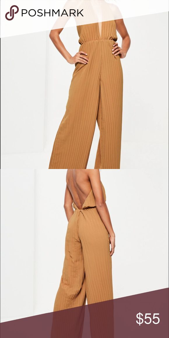 Jumpsuit BRAND NEW Camel jumpsuit. Never worn. Tags still on Pants Jumpsuits & Rompers