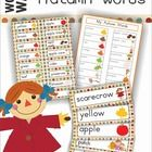 Word Wall - Autumn / Fall Words {74 words}  An Autumn / Fall-themed vocabulary packet.  Included in this packet you will find: - a personal word wa...